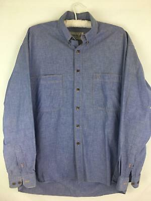 Country Road Workwear Size M Men's Casual Dress Shirt Button Front EUC Top Wear