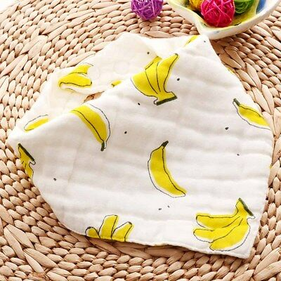 Kids Towel 8 Layers Cotton Gauze Scarf Triangle Burp Cloths Bibs Baby Clothing