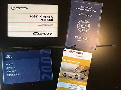 2007 Toyota Camry Owners Manual OEM Free Shipping