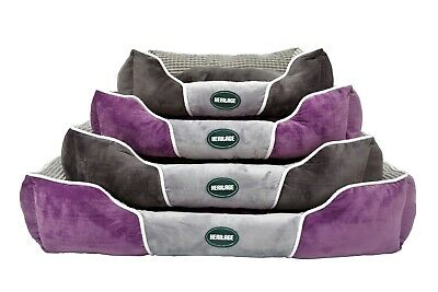 Heritage Deluxe Soft Washable Dog Pet Bed Warm Basket Cushion with Fleece Lining