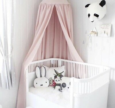 Childrens Bed, Cot, Reading Area Canopy With Lights - PINK