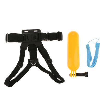 Perfeclan 3 in 1 Head Chest Mount Strap for GoPro Hero 6 5 4 Camera Set Kit