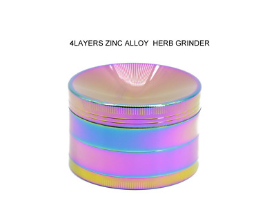 2.5inch 4 Layer Zinc Alloy Ice Blue Concave Herb Crusher Tobacco Metal Grinder