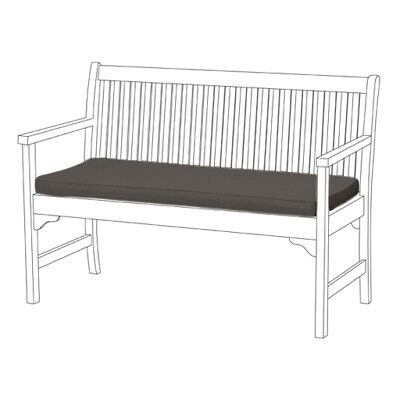 Grey 2 and 3 Seat Bench Swing Garden Seat Pad Cushion Outdoor Water Resistant