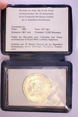 25th Anniversary 1947-1982 Dominican Republic Un Peso