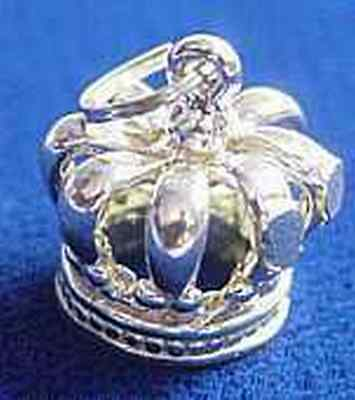 LOOK 0901 medieval Sterling Silver Crown Pendant Charm