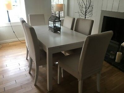 Brilliant Ikea White Dining Table And 8 Chairs 150 00 Picclick Uk Ocoug Best Dining Table And Chair Ideas Images Ocougorg