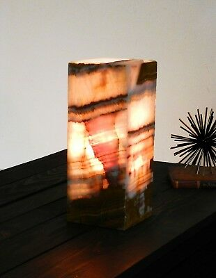 Stone Table Lamp, Onyx Marble, alabaster mood light