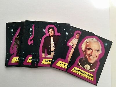 Battlestar Galactica movie cards rare stickers set 1978