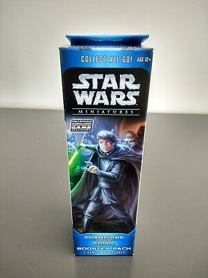 ONE (1) NEW WOTC Star Wars Miniatures Champions of the Force Booster Pack SEALED