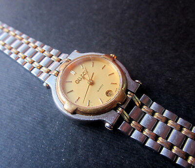 0d5fa5688f7 VINTAGE LADIES GUCCI WATCH 9000L Gold Plated Stainless Steel Swiss NEW  BATTERY