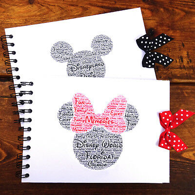 Disney Autograph Book, Mickey/Minnie Mouse, Disney Land/Disneyworld