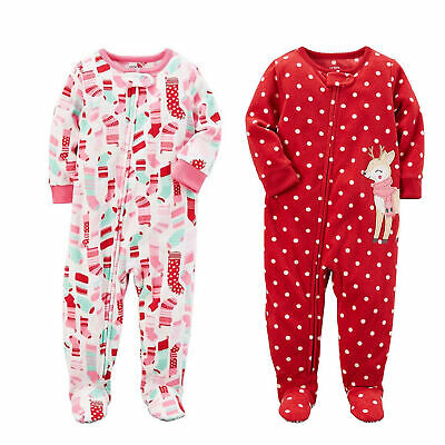129fcfa9b NWT CARTER S BABY Girls Long Sleeve One Piece Pajama- Sleeper ...
