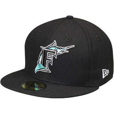 31b716cb3e2 Men s New Era Miami Marlins On-Field 59FIFTY Fitted Hat Cap AC Retro  Cooperstown