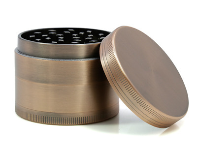 2.5inch 4 Layer Zinc Alloy Bronze Herb Crusher Tobacco Metal Grinder As Gift
