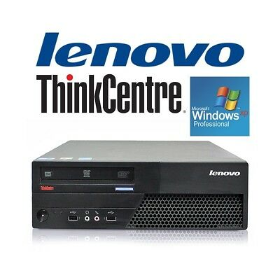 desktop computer lenovo thinkcentre m58 windows xp c.2 pc refurbished with