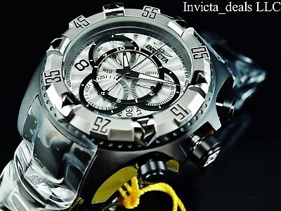 Invicta Men's 52mm Excursion Touring Swiss Chrono Combat Black Silver Dial Watch