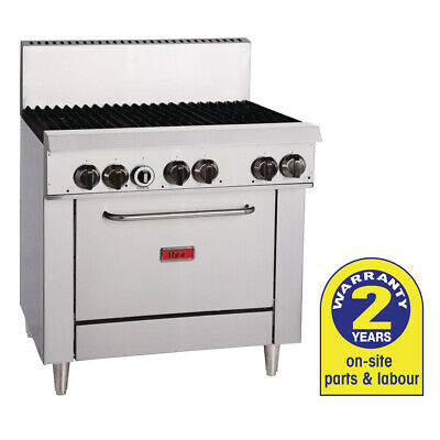 Gas Oven with 6 Open Burners LPG Hotplate Cooktop Range Thor Commercial Kitchen