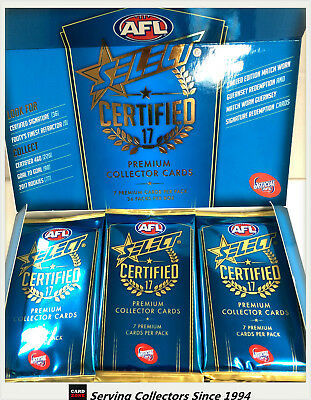 2017 Select AFL Certified Trading Cards Sealed Loose Packs Unit of 4--packs