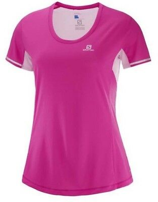 Salomon Agile Womens Short Sleeve Running Tee S18 - Pink Yarrow