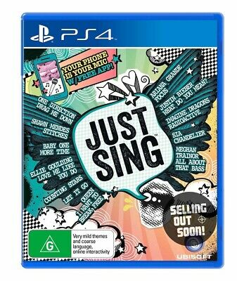Just Sing PS4 NEW+OZI (your Smartphone = mic) Singing Game Playstation 4 Console