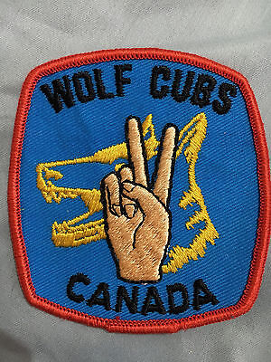 Vintage Wolf Cubs Canada Patch