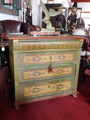 A Good Sized North European Antique Painted Chest Of Drawers
