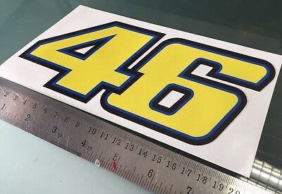 Rossi Number 46 Sticker Decal (200mm x 80mm)