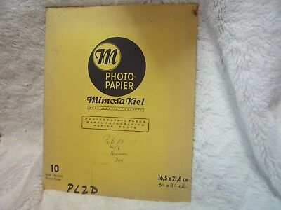 "8 X Mimosa Vintage Kiel Rb 119  6.5"" 8.5"" 16.5Cm 21.6Cm   Paper Photo"