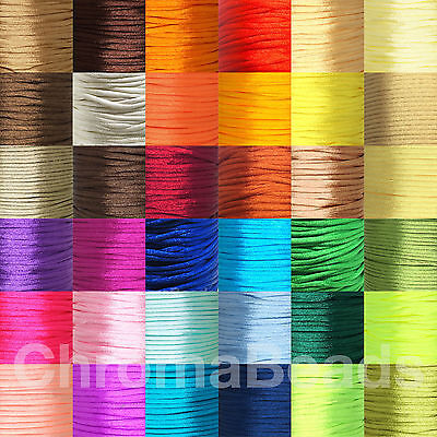 Reel of 2mm Satin Nylon Cord (Rattail) - kumihimo, chinese knot, macrame, crafts