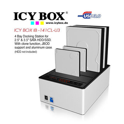 ICY BOX (IB -141CL-U3) 4 Bay Docking Station for 2.5 Inch and 3.5 Inch SATA HD