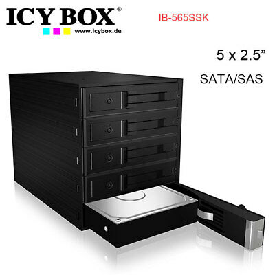 "ICY BOX IB-565SSK Backplane for 5x 3.5"" SATA or SAS HDD in 3x 5.25"" bay"