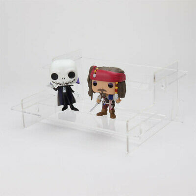 Funko Pop! Tiered Display Stand, Pop Vinyl, Collectibles, Acrylic, Black Shelves