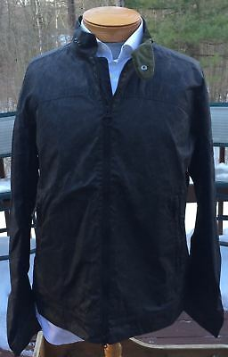 BRAND NEW-Barbour International A225 Scrambler Black Waxed Cotton -L-MSRP$359