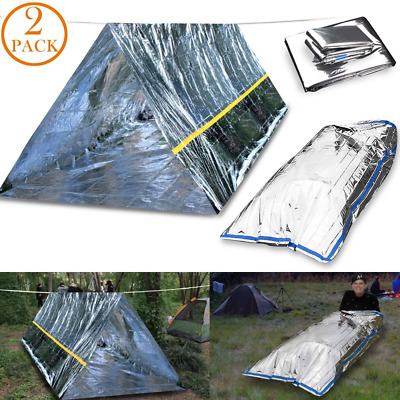 CEEBON Emergency Mylar Thermal Survival Tent and Sleeping Bag Survival Shelter f