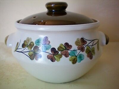 Denby Shamrock 2 Pint Covered Casserole Dish Tureen Excellent Condition Vintage