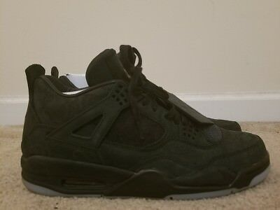 5a9397fde0d5 MEN S 2017 AIR Jordan 4 Retro Kaws 930155-001 Black black clear glow Size  11 -  700.88