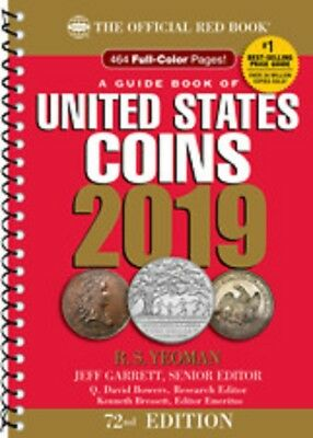 2019 Red Book Price Guide Of U.S. Coins, SPIRAL Redbook, 72nd Edition