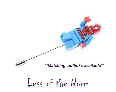 Lego SPIDERMAN Spider-man Marvel Buttonhole Button Hole Pin Wedding Pageboy Gift