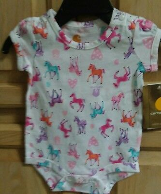 """Carhartt Blue T-Shirt /""""Puppy Love/"""" Babies//Infants//Toddlers CA9465 NWT"""