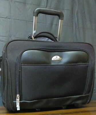 Samsonite Briefcase Rolling Laptop Bag Carry On Luggage with Handle-EUC