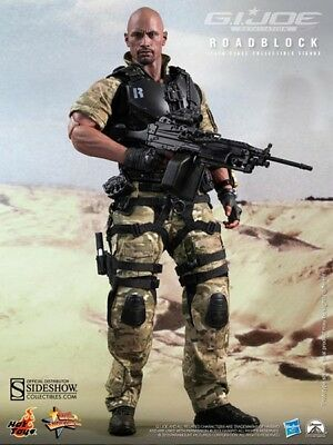 "Roadblock Dwayne Johnson G.I. Joe Retaliation MMS199 12"" Figur Hot Toys"