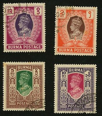 1946 Burma Stamps Scott #62-65 All:  Used, H