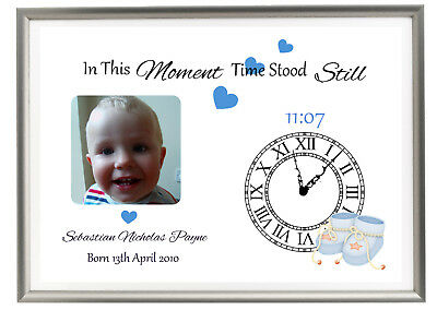 Personalised In This Moment Time Stood Still New Baby Nursery Gift Christening