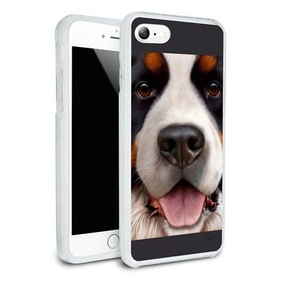 Bernese Mountain Dog Face Closeup Hybrid Rubber Bumper iPhone 7 and 7 Plus