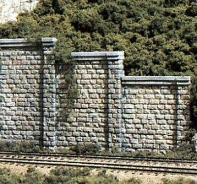 Woodland Scenics C1159 N Scale Cut Stone Retaining Walls (6)