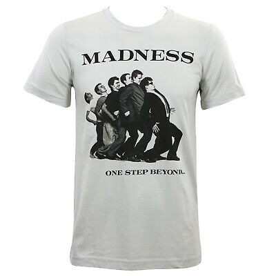 Authentic MADNESS One Step Beyond Album Cover Slim Fit T-Shirt Grey S-2XL NEW