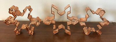 Set of 3 VIntage Large Snowflake Copper Cookie Cutters