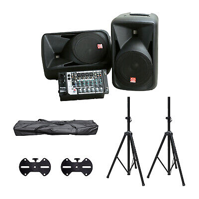 Superlux SP108 300W Compact Portable PA System with Stands and Brackets - New
