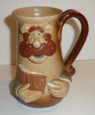 Vtg Whimsical Character Novelty Drinking Mug Signed 1987 Cup Figure Figurine